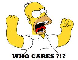 Homer Simpson Who Cares