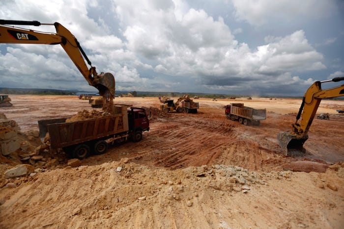 Construction for an airport in Botum Sakor, Cambodia, developed by China's Union Development Group, in May 2018. REUTERS/Samrang Pring