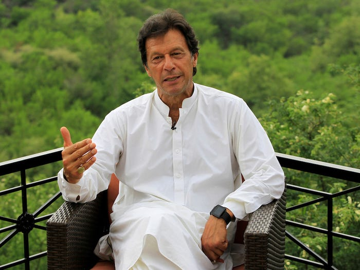 Imran Khan at his house in the Bani Gala hills, on the outskirts of Islamabad, Pakistan July 29, 2017. Caren Firouz/Reuters